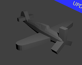 German BF-109 Fighter Aircraft 3D print model