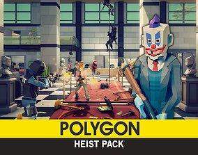 3D asset rigged POLYGON - Heist Pack