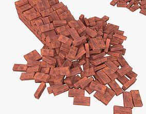 3D model low-poly Bricks Pack