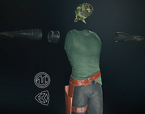 3D model Male Gangster Outfit