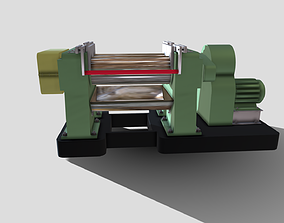 Machine - Two Roll Rubber Mill 3D model