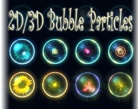 Bubble Particles 2D 3D game-ready