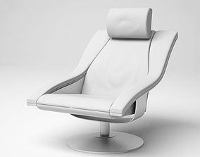 3D Modern White Armchair