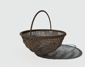 PBR Basket Round Bottom 3D model