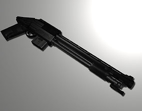rigged Remington 870 shot gun model 3d