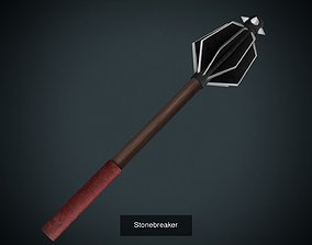 Low poly weapon PBR asset pack 3D model