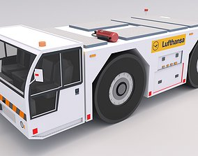3D model Lufthansa Towing Tractor
