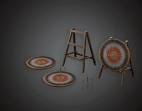 Archery Target - MVL - PBR Game Ready 3D model