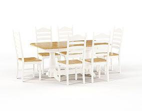 Maison Rouge Berrigan Honey Cream Dinner set 3D model