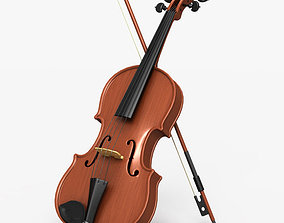 3D model instrument Violin and Bow