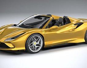 3D model Ferrari F8 Spider 2020