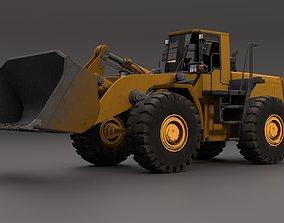rigged Wheel Loader 3D Model