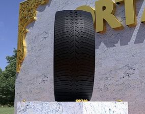 ORTAS TIRE NO 39 GAME READY AND 3D PRINTABLE car-tire