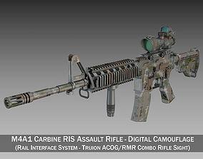 Colt M4A1 - Sopmod ACOG - Digital Camouflage 3D model