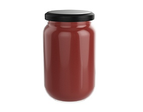 Tomato sauce jar 3D model