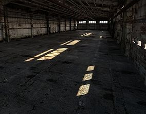 Old rusty industrial interior 3D