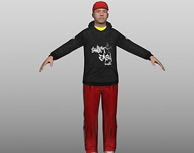 3D asset Hip Hop Low Poly