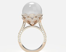 ring with pearls 3D print model