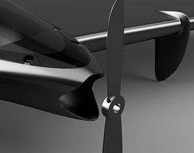 flying wing drone v2 3D print model