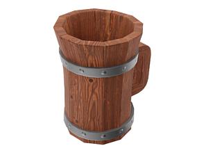 3D asset VR / AR ready Mug Of Ale From Tavern