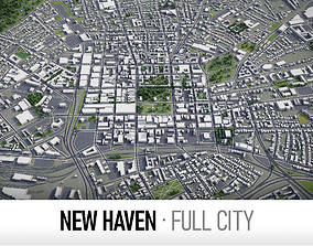 3D asset New Haven - city and surroundings