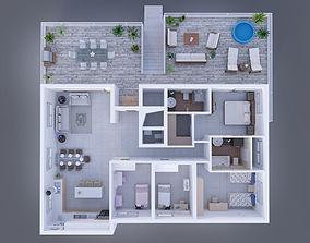 industrial Interior For apartment 3D model