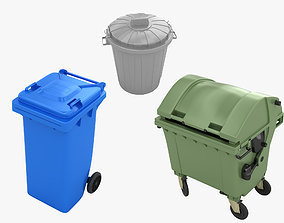 Trash Bin Collection 3D model