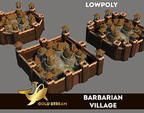 3D asset Barbarian Village