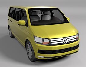 3D model VOLKSWAGEN VW TRANSPORTER T6 LOWPOLY