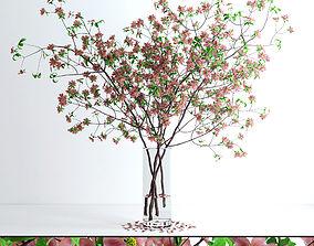 3D Dogwood Pink Blossom