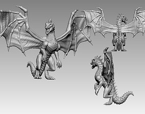 3D print model green dragon dnd