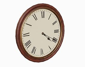 3D asset Antique clock