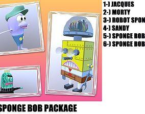 Sponge Bob Package 3D model