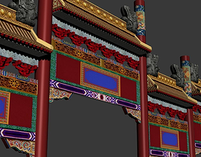 3D model ancient chinese tori classical