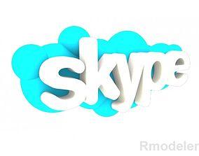 Skype 3d Logo