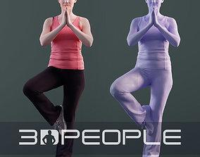 Kim 10180 - Yoga Athletic Woman 3D model