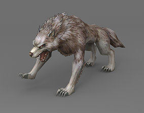 Wolf Rigged 3D model lowpoly