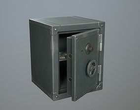Safebox locker small PBR Game-ready 3D model