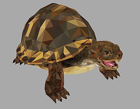 3D model Reptile Turtle Low Polygon Art Animal