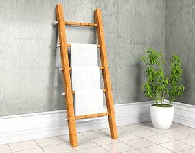 3D model Ladder WIth Towels