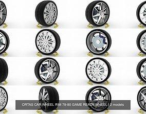 ORTAS CAR WHEEL RIM 79-80 GAME READY WHEEL 3D