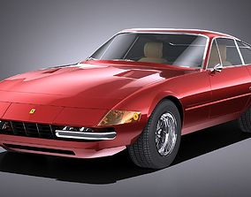 3D model HQLowPoly Ferrari Daytona 1968-1973