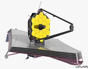 3D model James Webb Spacial Telescope