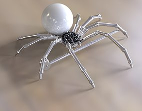 Spider brooch and pendant 3D print model