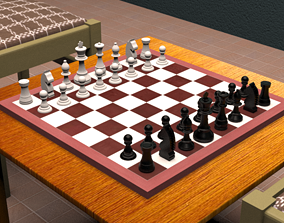 chess 3D model The Chess