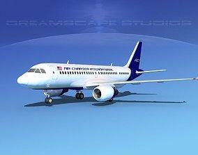 3D model Airbus A319 Jetliners