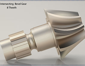 Original sizes Helical Bevel Gear 8 Theeth 3D print 1