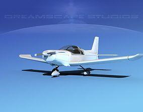 Zlin 242 Sport Aircraft 3D