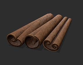 Cinnamon Sticks 3D model game-ready