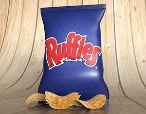 Chips 3D asset low-poly